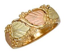 Dakota Black Hills Gold 10K Band Ring #KR 644 Select Your Size