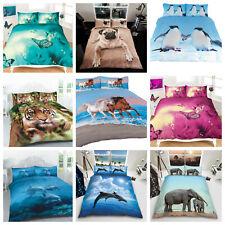 Duvet Cover Set 3D Animal Print Effect Quilt Bedding Set New