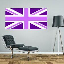 PURPLE LILAC UNION JACK FLAG UK GIANT BIG WALL STICKER decal car art 5 sizes