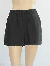 Ladies Piper Elastic Waist Summer Walk Shorts sizes 6 10 Colour Black