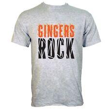 GINGERS Rock Camiseta Gris para Hombre