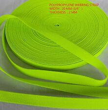 20mm Polypropylene Webbing Straps - Dog Leads, Camping, Belts - parrot color