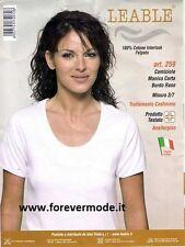 3 Maglie donna Leable manica corta in caldo cotone con profilo raso art 326-259
