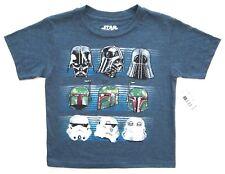 Star Wars Little Boys Navy Heather Short Sleeve Star Wars Graphic Tee T-Shirt