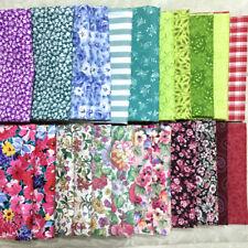 Quilting Cotton Fabric Fat Quarter - You Choose - Floral Plaid Striped Vtg 80s