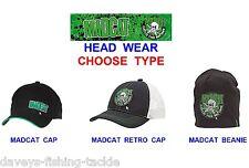 DAM MAD CAT HEAD WEAR CAP,SKULL & CLONK CAP,BEANIE HAT FOR CATFISH ROD FISHING