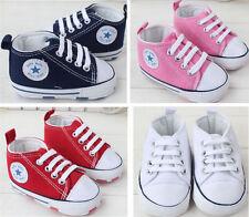 Baby Jungen Mädchen Crib Sneaker Schuhe Krabbelschuhe Turnschuhe Lauflernschuhe