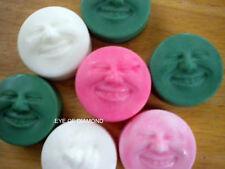 Handmade Shea Butter Glycerin Smiley Faces 2 soaps 1oz