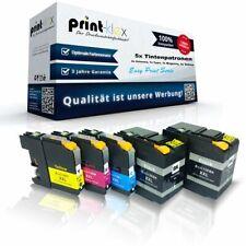 5x Impresora Cartuchos de tinta para Brother lc-12e XXL set- Easy Imprimir Serie