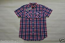 Superdry Men's Washbasket Plaid Short Sleeve Slim Fit Shirt Sz S, M, L, XL, 2XL