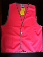 Hi Vis Pink Vest Size XS to 4XL