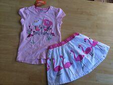 NWT Gymboree Fruit Punch Bestfriend shirt Top Flamingo Skirt Set Girls 5,8