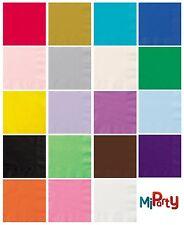 """20 Solid Colour Lunch Napkins 6.5""""x 6.5"""" Beverage Napkins 5""""x """"5 Various Colours"""