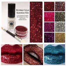 Glitter Lips Sparkle Lip Adhesive Glue Glitter Pot Brush Lipstick Gloss cosmetic