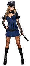 Sexy Polizistin Politesse Uniform Kleid Kostüm Minikleid Gogo Damen Karneval,(K)