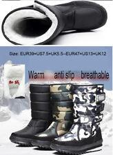 Men 's Waterproof  high boots cashmere Fleece warm Winter Snow Shoes Boots hot