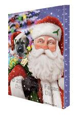 Jolly Old Saint Nick Santa Anatolian Shepherds Dog Holiday Gifts Canvas Wall Art