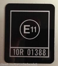 """KAWASAKI Z1100R """"E11"""" HEADSTOCK CAUTION WARNING DECAL"""
