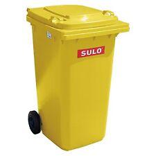 Container SULO 240 L poubelle ordures ménagères tri sélectif, Jaune (22067)