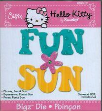 Sizzix Bigz HELLO KITTY  PHRASE FUN & SUN 656021 ULTRA RARE! BEACH SUMMER CUTE!!