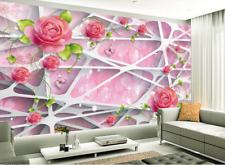 3D fiore quadro Parete Murale Foto Carta da parati immagine sfondo muro stampa
