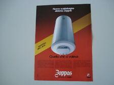 advertising Pubblicità 1981 SCALDABAGNO ZOPPAS