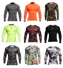Fringoo Compression BaseLayer Mens Training Top Workout T-shirt Dri-FIT Long Sle