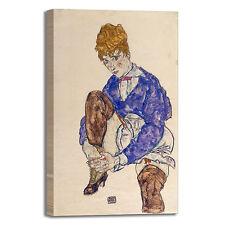 Schiele moglie seduta design quadro stampa tela dipinto telaio arredo casa