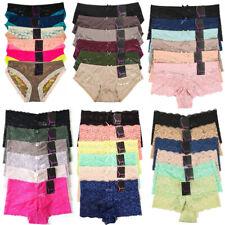 6 Lace Boyshorts Underwear Panties Lingerie Womens Boxer Brief Pack Lot S M L XL