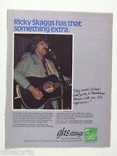 retro magazine advert 1982 GHS ricky skaggs