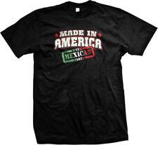 Made In America With Mexican Parts Viva La Raza Pride  Mens T-shirt