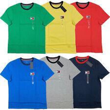 Tommy Hilfiger BIG FLAG Men's Crew Neck Tee T-Shirt Short Sleeve Solid Shirt