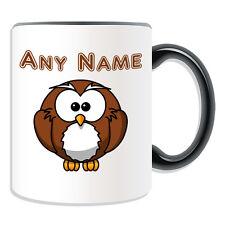 Personalised Gift Owl Mug Money Box Cup Customise Name Tea Coffee Silly Bubo Boy