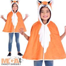 Fox Cape Kids Fancy Dress Fantastic World Book Day Animal Children Costume Cloak