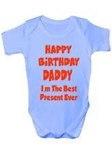 Happy Birthday Dad Best Present Babygrow Vest Baby Clothing Funny Gift