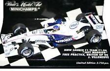 MINICHAMPS BMW SAUBER F1 TEAM cars J  VILLENEUVE &  A  ZANARDI 2006 1:43rd scale