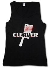 CLEAVER DAMEN TANK TOP Sopranos The Horror Slasher Butcher Messer Axt Hackebeil