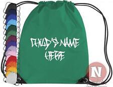 Personalizado Grafiti Sport Kit bolsa cordón COLEGIO gimnasia - Add Niños Nombre