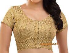 Readymade Saree Blouse, Gold Brocade Sari Blouse, Crop Top, Choli, indian blouse