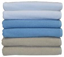 Egyptian Cotton Bath Towel Blue/Stone/White 68x137cm 550GSM Clearance Sale