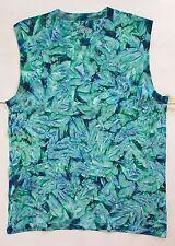 *New* Handmade, Men's Emerald Crinkle Tie Dye Sleeveless Shirt, Sm - 2XL
