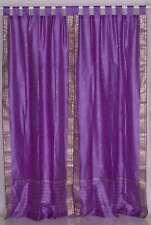 Lavender  Tab Top  Sheer Sari Curtain / Drape / Panel  - Piece