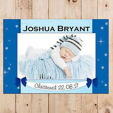 Personalised Boys Christening Baptism Day PHOTO Poster Banner Keepsake Gift N94