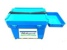 Shakespeare Team Sea Fishing Seat box & Strap & Side Tray Black / Blue