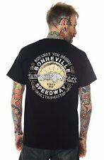Dragstrip ropa hombres Bonneville velocidad ensayos Biker Hot Rod Rockabilly t`shirt