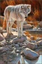 Ceramic Tile Mural Backsplash Aldrich Wolf Wildlife Animal Art RW-EA022