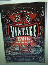 Vintage Evil speed shop advertising vintage retro signs repro wall art