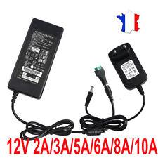 12V 2/3/5/6/8/10A DC Transformateur Adaptateur d'Alimentation pour LED Bande