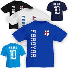 Kinder T-Shirt Trikot Färöer Føroyar inkl. Name & Nummer S M L XL XXL Fussbal