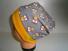 ♥Neu-Handmade♥Uhus♥Beanie♥ Mütze♥Kindermütze♥KU 38-58♥Jersey♥